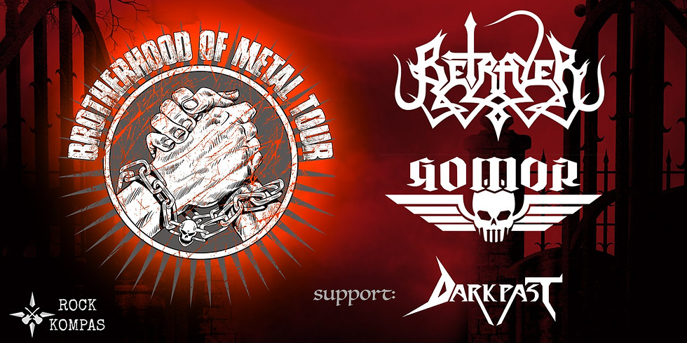 Brotherhood of metal tour - Betrayer i Gomor