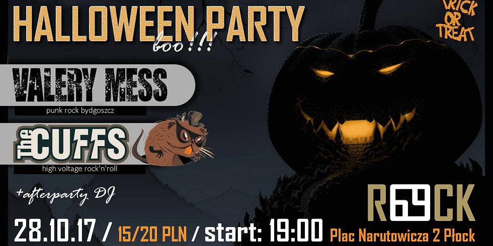 HALLOWEEN PARTY - THE CUFFS + VALERY MESS