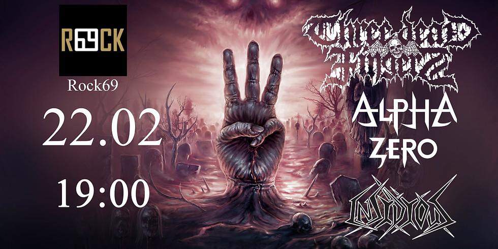 Three Dead Fingers (SWE) + Insidious Band (POL) + Alpha Zero (POL)