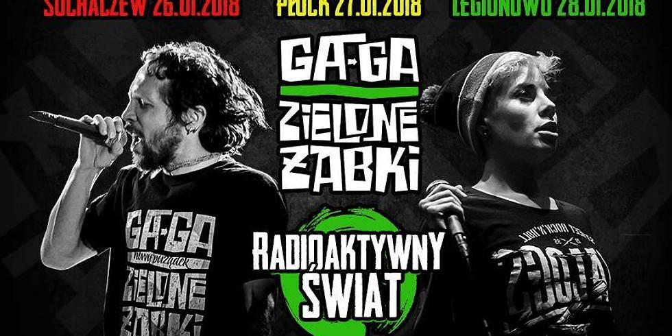 GA-GA ZIELONE ŻABKI + RADIOAKTYWNY ŚWIAT