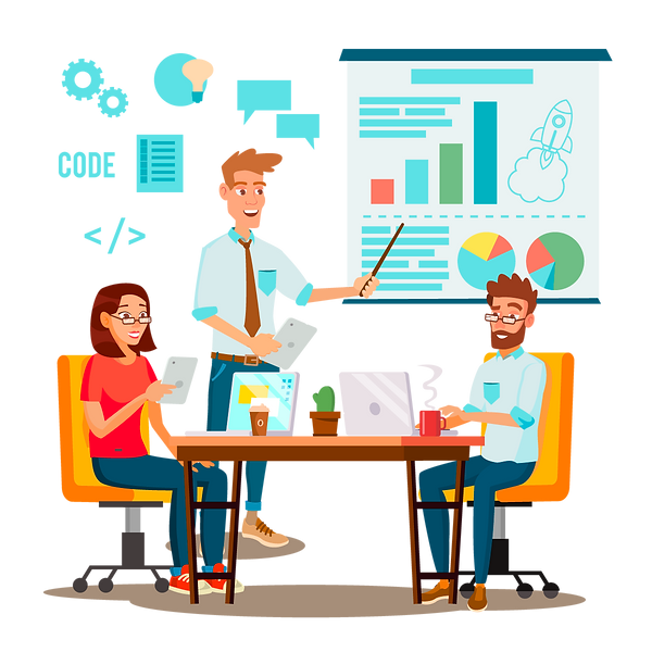 —Pngtree—team work brainstorming vector