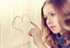 Girl broken heart