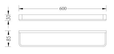 SINGLE TOWEL RAIL 600MM 2624