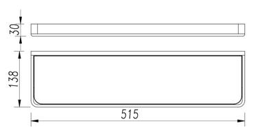 GLASS SHELF 2687