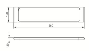7087 GLASS SHELF
