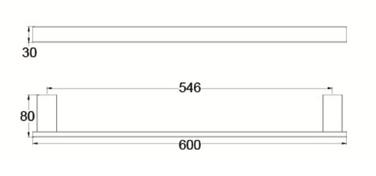 4624 SINGLE TOWEL RAIL 600MM