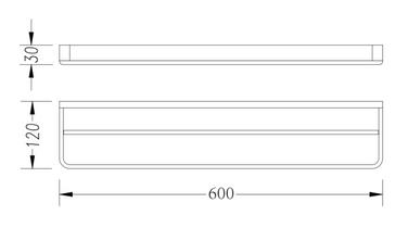 DOUBLE TOWEL RAIL 600MM 2624D