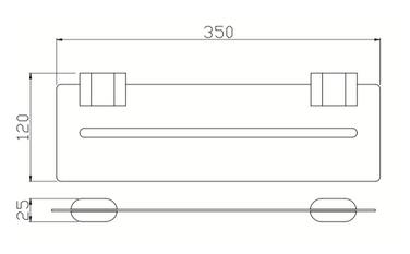 7087B GLASS SHELF