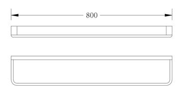 SINGLE TOWEL RAIL 800MM 2630