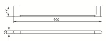 7024 SINGLE TOWEL RAIL