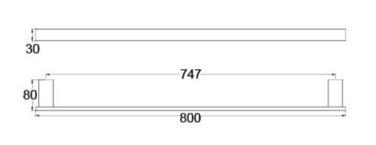 4630 SINGLE TOWEL RAIL 800MM