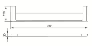 7024D DOUBLE TOWEL RAIL