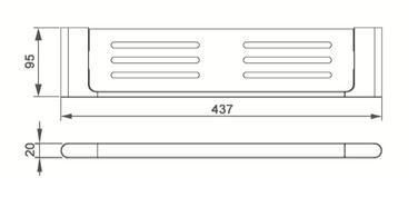 7087A METAL SHELF
