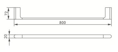 7030 SINGLE TOWEL RAIL