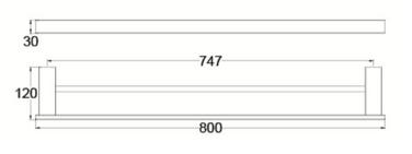 4630D DOUBLE TOWEL RAIL 800MM