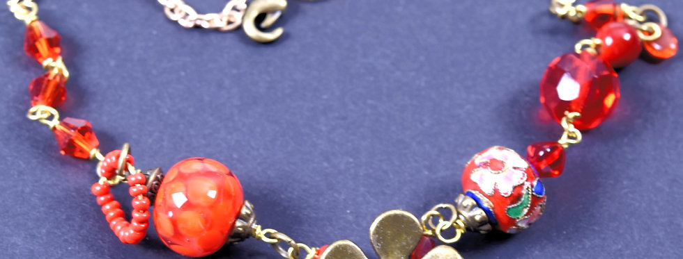 Necklace red treasures