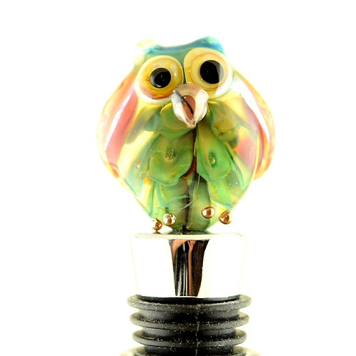 Bottle stopper Owl red wings