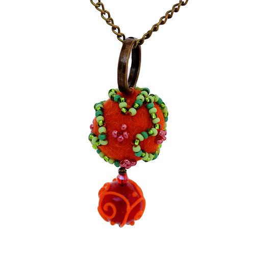 Red felt pendant