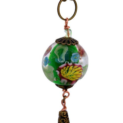 Green pendant with murrinis