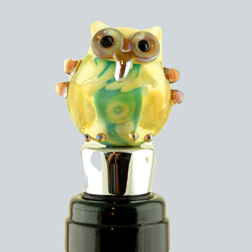 Bottle stopper owl Huhuu