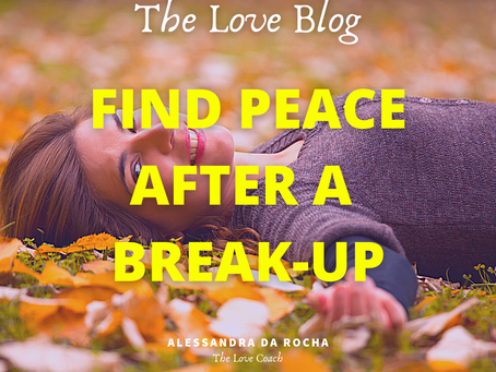 How to be at peace after a break-up