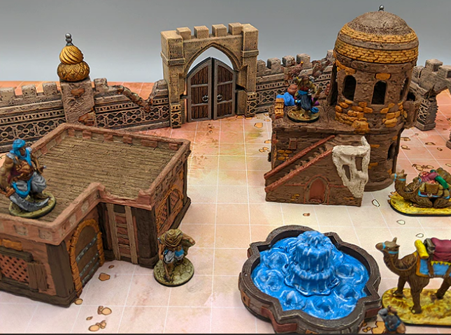 Empire of Scorching Sands town scatter