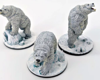 The Wilds of Wintertide dire bears