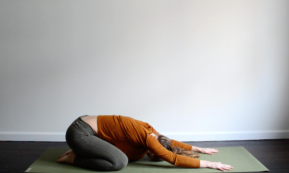 Child's pose; yoga