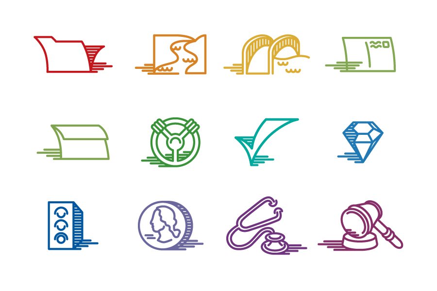 Color Coded Icon Set