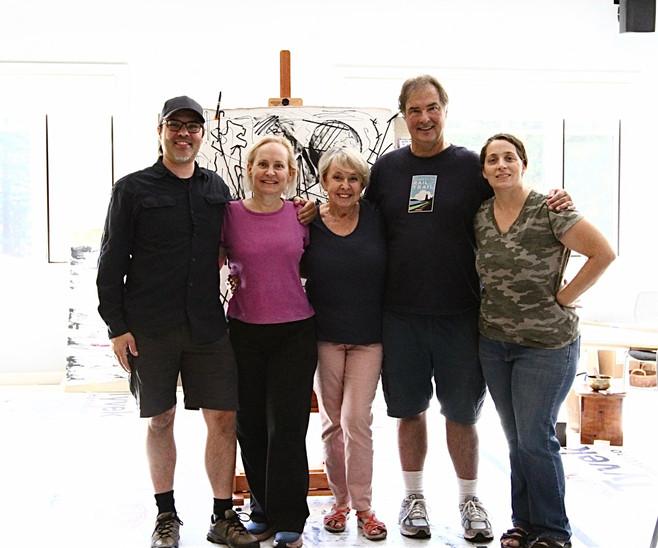 "Nancy Hillis's ""The Artist's Journey Retreat"" October 2019.  Group of Nancy's ""Team."""