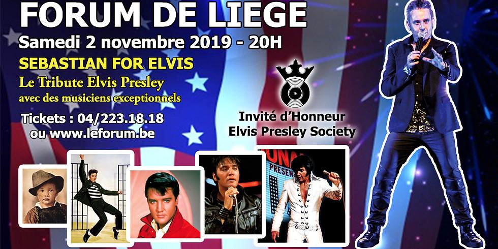 Sebastian For Elvis - Le Tribute Elvis Presley au Forum de Liège