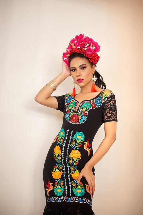 Vestido Princesa Flores