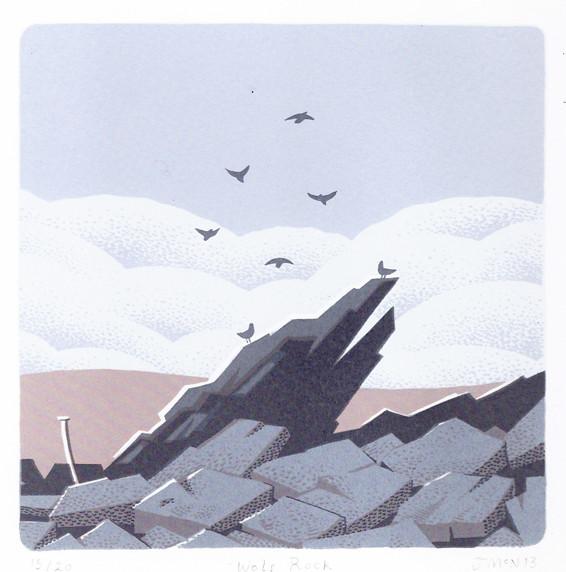 Wolf Rock - Screen Print