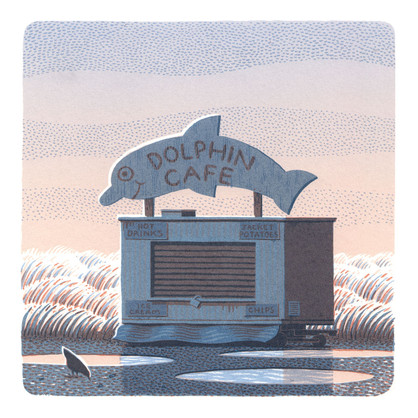 DOLPHIN CAFE - Screen Print