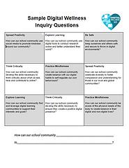 Digital Wellness Sample Inquiry Question