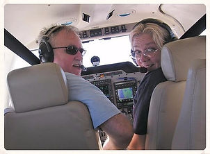 Terry and Bill flying over Florida