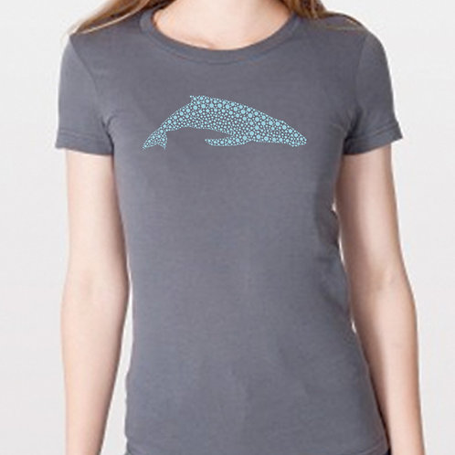 Women's Whaledot Marine on Charcoal