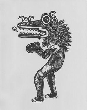 Boxeador, Linocut .jpg