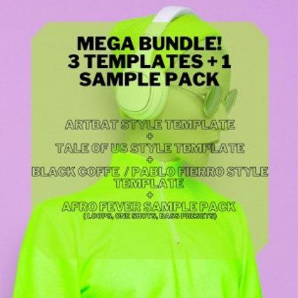 Mega Bundle! 3 Ableton Templates & 1 Samples Pack