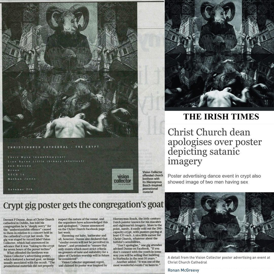 The Infamous Crypt Poster - Christchurch Cathedral
