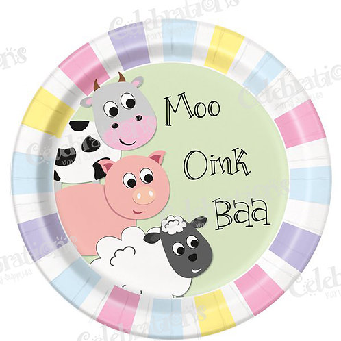 Farmyard Party Plates
