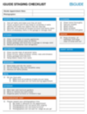 iGuide Staging Checklist