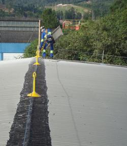 Linha de vida horizontal para telhados 5