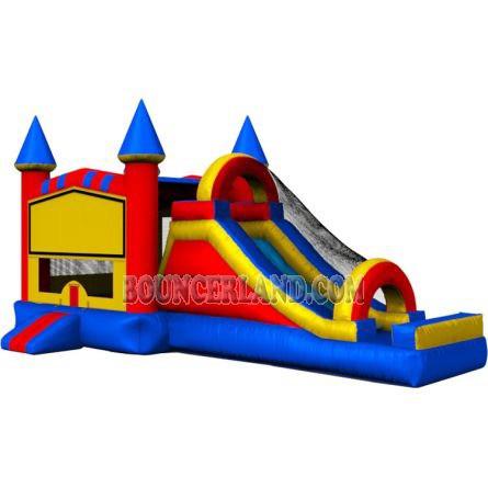 Castle bounce house combo