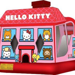 Hello Kitty 4-1 combo Bounce house, Hoop, Wall and slide