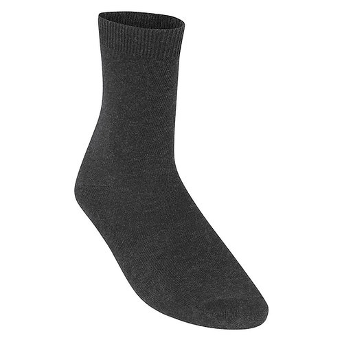 Pack of 5 Grey Smooth Knit Ankle Socks