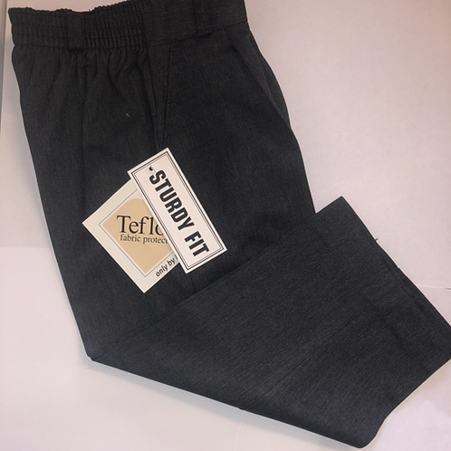 Sturdy fit trousers available in black or grey
