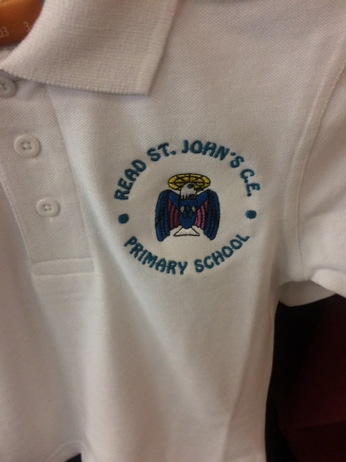Read St. John White or Jade Polo Shirt