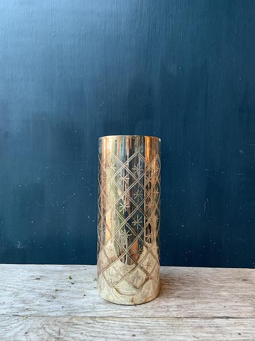 Burnished Silver Effect Vase