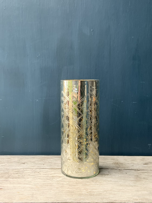 Silver Foil Effect Vase